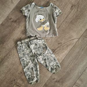 2/$10  Disney army pajama set camouflage